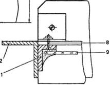 Крепление дверной коробки к цоколю и стойке