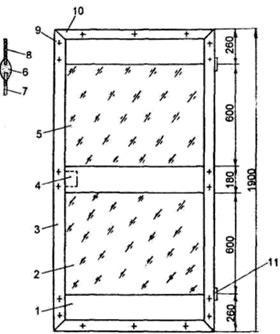 Проект двери теплицы