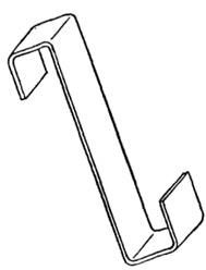 S - образные крючки для фиксации стекол