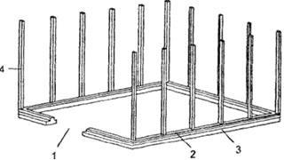 Монтаж на цокольной шине шпросов боковых шин